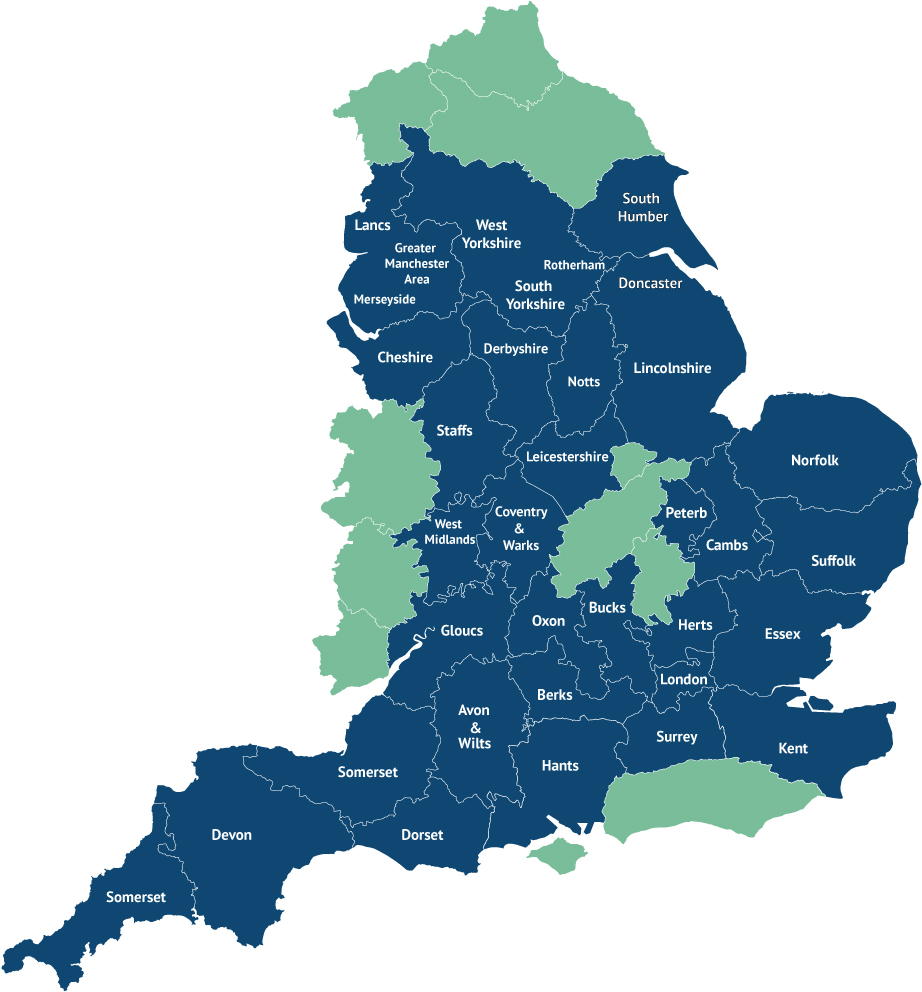 British Map England Counties